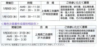 青色申告会(2007年1月9日指導会表)