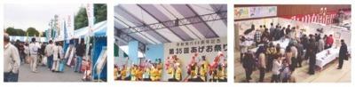あげお祭り(2008年会場風景)